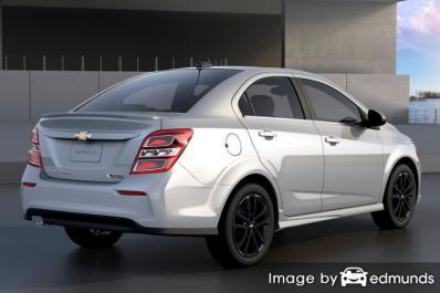 Insurance quote for Chevy Sonic in Houston
