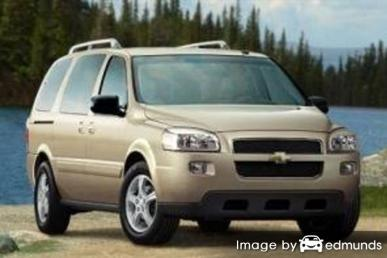 Insurance rates Chevy Uplander in Houston