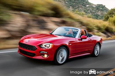 Insurance rates Fiat 124 Spider in Houston