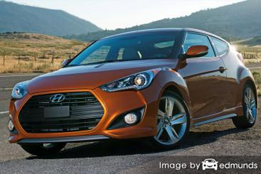 Insurance rates Hyundai Veloster in Houston