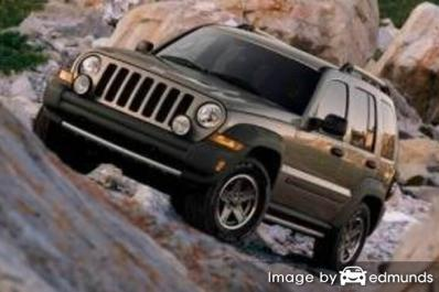Insurance rates Jeep Liberty in Houston