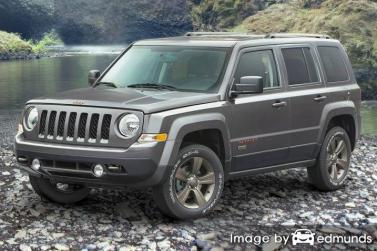 Insurance rates Jeep Patriot in Houston