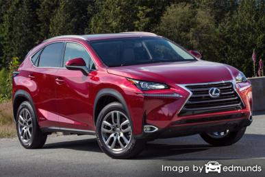 Insurance rates Lexus NX 300h in Houston