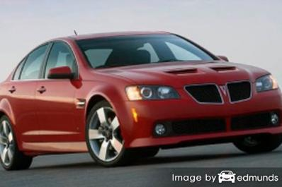 Insurance rates Pontiac G8 in Houston
